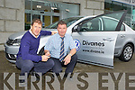 John Divane presents the keys for a new Volkswagen Passat to Kerry trainer Jack O'Connor at Divanes VW Garage, Castleisland on Monday..