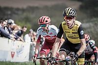 39 yr old veteran Bram Tankink (NED/Lotto NL-Jumbo) leading the breakaway group up the Gulpenerberg in his very last Amstel.<br /> <br /> 53th Amstel Gold Race (1.UWT)<br /> 1 Day Race: Maastricht &gt; Berg en Terblijt (263km)