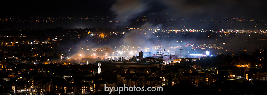1707-03 0044<br /> <br /> 1707-03 Stadium of Fire<br /> <br /> Photographed from Y Mountain<br /> <br /> July 1, 2017<br /> <br /> Photography by Nate Edwards/BYU<br /> <br /> &copy; BYU PHOTO 2017<br /> All Rights Reserved<br /> photo@byu.edu  (801)422-7322