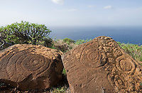 Spain, Canary Islands, La Palma, Villa de Garafia, Santo Domingo: Petroglyphs