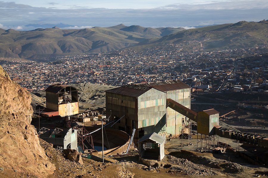 The abandoned government mining facility in Potosí, Bolivia.