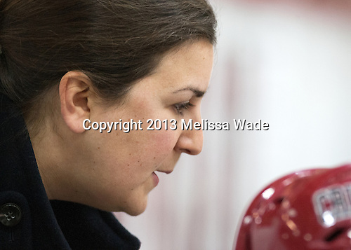 Maura Crowell (Harvard - Interim Head Coach) - The Harvard University Crimson defeated the visiting Princeton University Tigers 4-0 on Saturday, October 26, 2013, at Bright-Landry Hockey Center in Cambridge, Massachusetts.