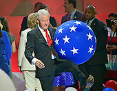 Former United States President Bill Clinton on the podium following the acceptance speech of Hillary Clinton, the Democratic Party nominee for President of the United States, during the fourth session of the 2016 Democratic National Convention at the Wells Fargo Center in Philadelphia, Pennsylvania on Thursday, July 28, 2016.<br /> Credit: Ron Sachs / CNP<br /> (RESTRICTION: NO New York or New Jersey Newspapers or newspapers within a 75 mile radius of New York City)
