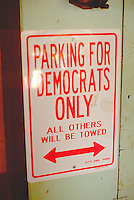Sign found in parking lot of conservative rural town.  Battle Lake Minnesota USA