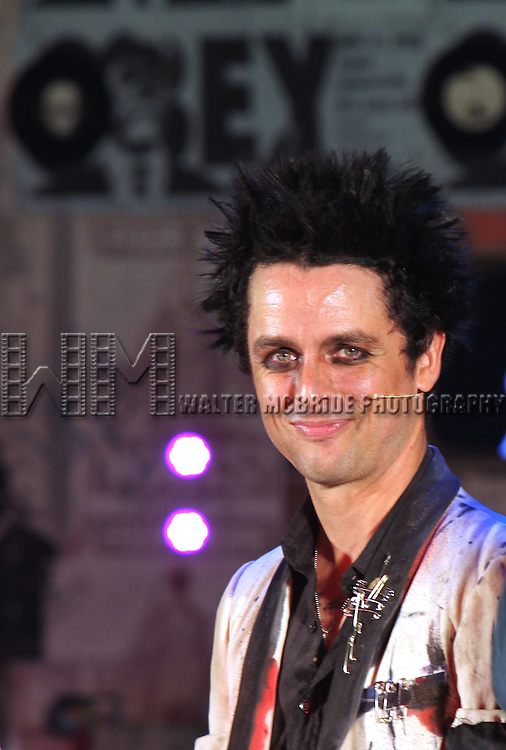 "Billie Joe Armstrong during the curtain call as he makes his Broadway Debut As ""St. Jimmy"" in ""American Idiot"" at the St. James Theatre in New York City.  September 28, 2010.© Walter McBride / .."
