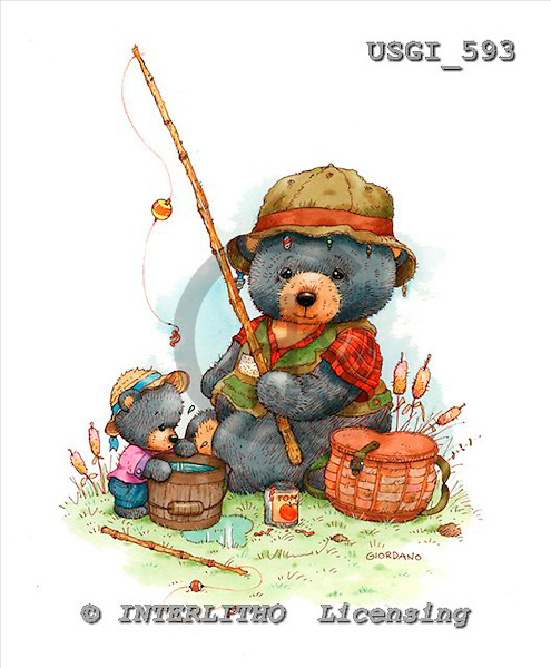 GIORDANO, CUTE ANIMALS, LUSTIGE TIERE, ANIMALITOS DIVERTIDOS, Teddies, paintings+++++,USGI593,#AC# teddy bears