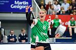 05.10.2019, Halle Berg Fidel, Muenster<br />Volleyball, Bundesliga Frauen, Normalrunde, USC MŸnster / Muenster vs. Allianz MTV Stuttgart<br /><br />Jubel Lina Alsmeier (#8 Muenster)<br /><br />  Foto © nordphoto / Kurth