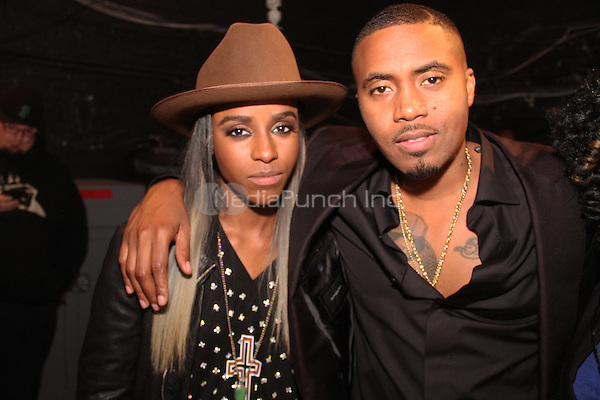 NEW YORK, NY - OCTOBER 30: Angel Haze & Nas attend the Keep A Child Alive 11th Annual Black Ball at the Hammerstein Ballroom, October 30th 2014 in New York City. Credit: Walik Goshorn/MediaPunch