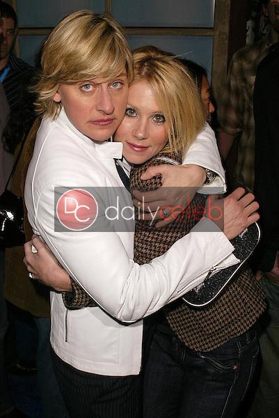 Ellen Degeneres and Christina Applegate