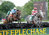 10-year-old Mixed up flashed his old form in the AP Smithwick Steeplechase.