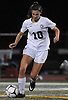 Cailey Welch #10 of North Shore, right, moves the ball downfield during the Nassau County varsity girls soccer Class A final against Manhasset at Cold Spring Harbor High School on Friday, Nov. 3, 2017. She scored two goals in North Shore's 4-2 win.