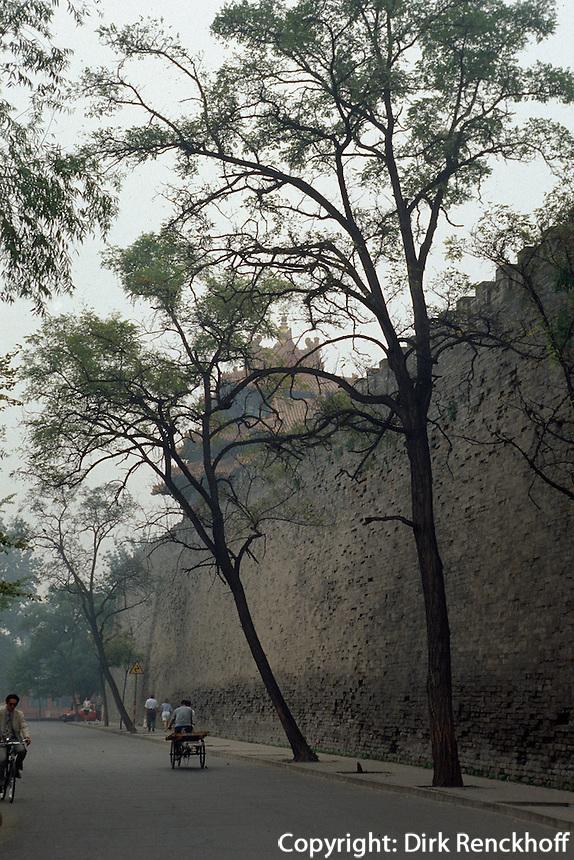 Palastmauer, Kaiserpalast (Gugong, Verbotene Stadt), Peking (Beijing), China, Unesco-Weltkulturerbe