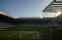 1st January 2020; St James Park, Newcastle, Tyne and Wear, England; English Premier League Football, Newcastle United versus Leicester City; General view of St James Park - Strictly Editorial Use Only. No use with unauthorized audio, video, data, fixture lists, club/league logos or 'live' services. Online in-match use limited to 120 images, no video emulation. No use in betting, games or single club/league/player publications