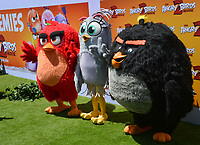 "LOS ANGELES, USA. August 10, 2019: Red, Silver & Bomb at the premiere of ""The Angry Birds Movie 2"" at the Regency Village Theatre.<br /> Picture: Paul Smith/Featureflash"
