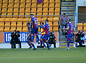 24th March 2018, McDiarmid Park, Perth, Scotland; Scottish Football Challenge Cup Final, Dumbarton versus Inverness Caledonian Thistle; Carl Tremarco of Inverness Caledonian Thistle is congraulated after scoring the only goal of the game for 1-0 in added time at the end of the Irn-Bru Cup Final
