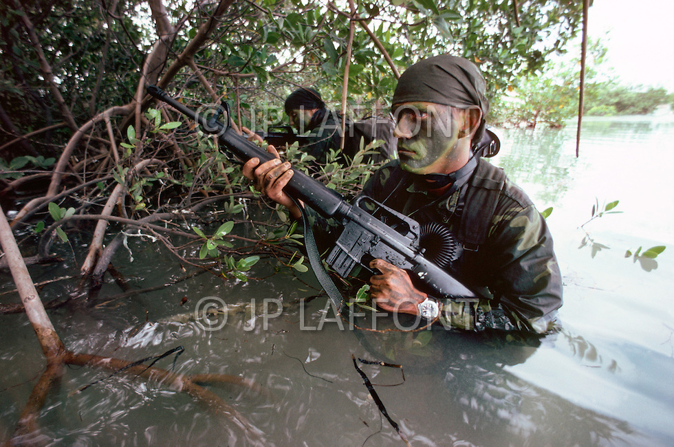 Special Force, April 1982. Amphibious unit training in Key West, Florida.