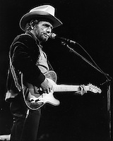 Country Western singer Merle Haggard preforming at Marlboro Country Music Concert at the Oakland Coliseum Arena Sept 25,1988. (photo by Ron Riesterer)