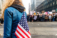 New York, USA 21 Jan 2017 - An estimated 400 to 500 protesters marched from Daj Hamerskold Plaza, at the UN, to Trump Tower to protest against President Donald Trump on his first day in office. ©Stacy Walsh Rosenstock/Alamy Live News