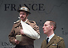The Patriotic Traitor <br /> at Park Theatre, London, Great Britain <br /> press photocall <br /> 18th February 2016 <br /> <br /> Laurence Fox as Charles de Gaulle <br /> <br /> <br /> <br /> Photograph by Elliott Franks <br /> Image licensed to Elliott Franks Photography Services