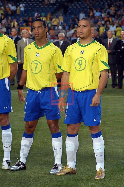 Ronaldinho & Ronaldo. Catalunya vs Brasil: 2-5