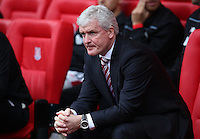 Stoke City's Manager Mark Hughes during the Barclays Premier League match between Stoke City and Swansea City played at Britannia Stadium, Stoke on April 2nd 2016