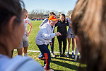 KANSAS CITY, MO - DECEMBER 02: President Dr. Randall O'Brien of Carson-Newman University gives the pre-game speech to the Carson-Newman Eagles at the Division II Women's Soccer Championship held at the Swope Soccer Village on December 2, 2017 in Kansas City, Missouri. (Photo by Doug Stroud/NCAA Photos/NCAA Photos via Getty Images)