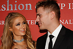 Paris Hilton and Chris Zylka arrive at The Fashion Group International's Night of Stars 2017 gala at Cipriani Wall Street on October 26, 2017.