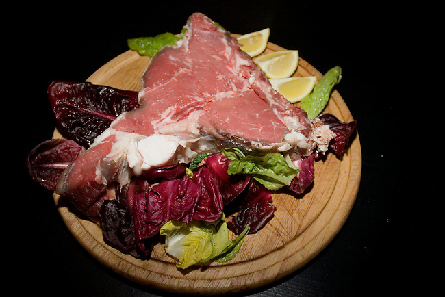 Raw Steak, Francescano Restaurant, Florence,  Italy, Italian, Europe