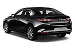 Car pictures of rear three quarter view of 2020 Mazda Mazda3 Skycruise 4 Door Sedan Angular Rear