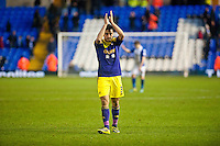 Saturday 25 January 2014<br /> Pictured:Neil Taylor  applauds fans after the game <br /> Re: Birmingham City v Swansea City FA Cup fourth round match at St. Andrew's Birimingham