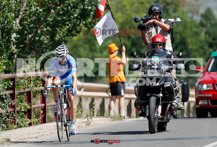 Javier Chacon escaped from the group during during the stage of La Vuelta 2012 between Logroño and Logroño.August 22,2012. (ALTERPHOTOS/Acero) /NortePhoto.com<br /> <br /> **SOLO*VENTA*EN*MEXICO**<br /> **CREDITO*OBLIGATORIO**<br /> *No*Venta*A*Terceros*<br /> *No*Sale*So*third*<br /> *** No Se Permite Hacer Archivo**<br /> *No*Sale*So*third*