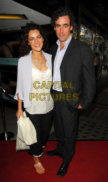 LOUISE DELAMERE & STEPHEN MANGAN.Sketches Of Frank Gehry - private Tiffany & Co screening, Curzon Mayfair, London, UK..May 10th, 2006.Ref: CAN.full length blue black suit.www.capitalpictures.com.sales@capitalpictures.com.©Capital Pictures