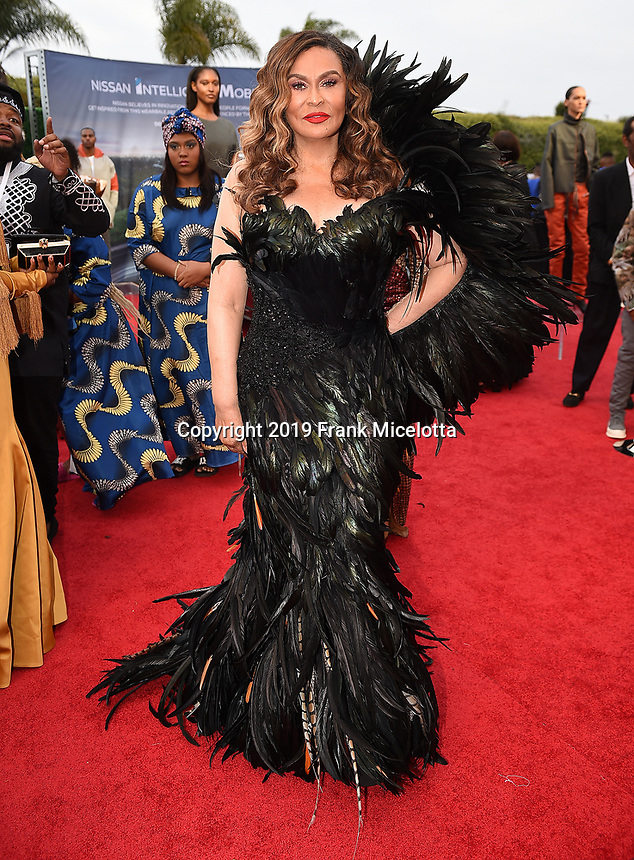 SANTA MONICA - JUNE 1: Tina Knowles Lawson attends the 3rd Annual Wearable Art Gala at Barker Hangar on June 1, 2019 in Santa Monica, California. (Photo by Frank Micelotta/PictureGroup)