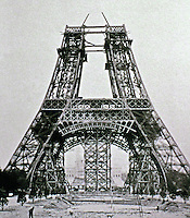 Eiffel Tower, a wrought iron lattice tower on the Champ de Mars in Paris, France. It is named after the engineer Gustave Eiffel, whose company designed and built the tower.