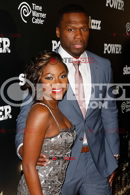 """New York, NY -  June 2 :  Executive Producer Curtis """"50 Cent"""" Jackson and Guest attend the Power Premiere held at the Highline Ballroom on June 2, 2014 in New York City. Photo by Brent N. Clarke / Starlitepics"""