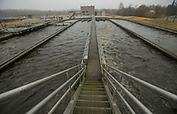 NWA Democrat-Gazette/BEN GOFF @NWABENGOFF<br /> Wastewater passes through one of three biological nutrient reduction trains Thursday, Nov. 21, 2019, at the Rogers wastewater treatment plant.