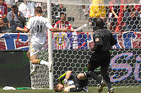 Chivas USA goalie Brad Guzan makes a save against the Los Angeles Galaxy at the Home Depot Center in Carson, CA on Sunday, May 20, 2007. The teams played to a 1-1 draw.