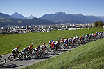 Action from the Women Junior Road Race of the 2018 UCI Road World Championships running 71.7km from Wattens to Innsbruck, Innsbruck-Tirol, Austria 2018. 27th September 2018.<br /> Picture: Innsbruck-Tirol 2018| Cyclefile<br /> <br /> <br /> All photos usage must carry mandatory copyright credit (&copy; Cyclefile | Innsbruck-Tirol 2018)