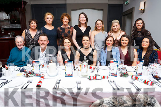 The staff of Leahy Pharmacy Ballinorig and Oakpark Tralee  enjoying their Xmas party in the Ashe Hotel on Saturday evening.