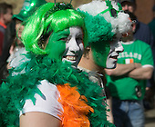 15 March 2009. London/United Kingdom. Irish celebrations in London with the traditional St Patrick's Day Parade. (Photo: Bettina Strenske)
