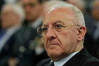Il Governatore della Campania Vincenzo De Luca e il partecipa al Convegno sul mezzogiorno alla fondazione Banco iNapoli