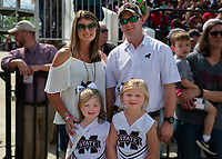 Family photo during Maroon and White football game.<br />  (photo by Lizzy Powers / &copy; Mississippi State University)