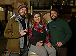 Oxford CT-011919MK24 (from left) Casey Dooley and his sister Colleen Dooley with Zack Cornwall gathered at Black Hog Brewing Co. in Oxford. for a fund raising event that featured 26 breweries from all over New England along with artisan snack vendors and food trucks.  Organizers hoped to raise over $3000 to benefit The Connecticut Children's Medical Center. Michael Kabelka / Republican American