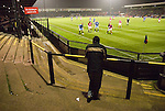 York City 1 Cambridge United 2, 10/10/2006. Bootham Crescent, Football Conference. Solitary Cambridge fan and 4 players watch the ball. Photo by Paul Thompson.