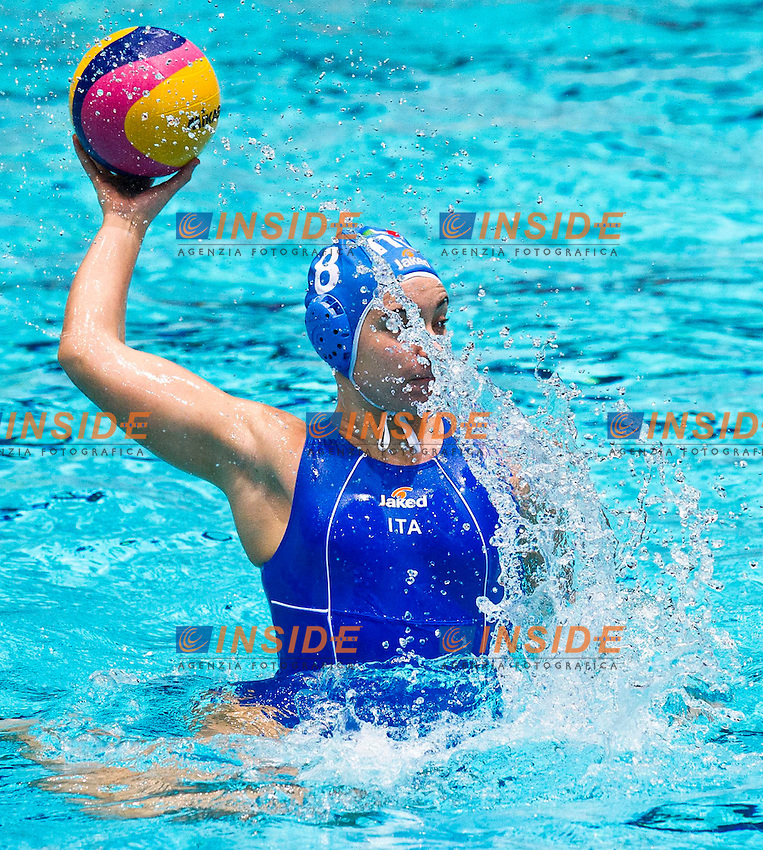 Eindhoven , Netherlands (NED) 18/1/2012.LEN European  Water Polo Championships 2012.Day 03 - Women.Greece (White) - Italia (Blue)..GRE.1 KOUVDOU Eleni.2 TSOUKALA Christina Chrysoula.3 MELIDONI Antiopi..4 PSOUNI Ilektra Maria .5 LIOSI Kyriaki .6 AVRAMIDOU Alkisti.7 ASIMAKI Alexandra.8 ROUMPESI Antigoni .9 GEROLYMOU Angeliki.10 MANOLIOUDAKI Triantafyllia.11 ANTONAKOU Stavroula.12 LARA Georgia.13 DIAMANTOPOULOU Chrysoula..ITA.1 GIGLI Elena..2 ABBA TE Simona..3 CASANOVA Elisa .4 AIELLO Rosaria .5 QUEIROLO Elisa .6 LAPI Allegra.7 di MARIO Tania .8 BIANCONI Roberta .9 EMMOLO Giulia Enrica.10 RAMBALDI GUIDASCI Giulia.11 COTTI Aleksandra .12 FRASSINETTI Teresa.13 GORLERO Giulia.Photo G.Scala/Deepbluemedia.eu