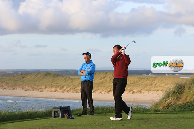Peter Sheehan (Ballybunion) on the 16th tee during the Munster Final of the AIG Senior Cup at Tralee Golf Club, Tralee, Co Kerry. 12/08/2017<br /> Picture: Golffile | Thos Caffrey<br /> <br /> <br /> All photo usage must carry mandatory copyright credit     (&copy; Golffile | Thos Caffrey)