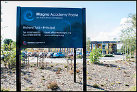 BNPS.co.uk (01202 558833)<br /> Pic: TomWren/BNPS<br /> <br /> Magna Academy.<br /> <br /> A former headteacher has slammed an Academy School which is advertising for a 'Director of Isolations and Detentions', describing their methods as 'Dickensian' and giving students 'a sample of prison'.<br /> <br /> Magna Academy in Poole, Dorset has posted a job advert on its website for the full-time position which will require the successful applicant to enforce 'tough love' to the students and 'demand obedience at all times' while running a newly created 'Behaviour Correction Unit'.<br /> <br /> Disruptive students who persistently talk out of turn in class or distract others will be taken out of regular lessons and schooled at the unit so that no learning time is 'stolen' from the rest of the class, the academy says.<br /> <br /> The job advert for the role states: &quot;If you believe in a strong 'tough love' approach to discipline, no excuses, and that children should be respectful and obedient at all times then this may be the role for you.&quot;<br /> <br /> The academy, which has been rated as 'outstanding' by Ofsted, prides itself in its hard-line approach to discipline and has introduced silent lesson transitions, summer holiday work packs and extra lessons.<br /> <br /> On one occasion, it is alleged that more than 40 students were removed from lessons because their pencil cases were too small and their rulers were too short.<br /> <br /> However, former headteacher Andrew Mears, who was headteacher at five schools during a 26 year teaching career, including the nearby Montacute School in Poole, said the academy's 'authoritarian' methods could affect the students' mental health.