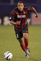 Ricardo Clark of the MetroStars during a game against the Galaxy. The LA Galaxy tied the NY/NJ MetroStars 1-1 on 4/19/03 at Giant's Stadium, NJ.