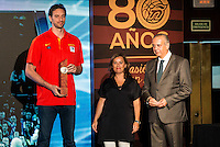 Pau Gasol during the 80th Aniversary of the National Basketball Team at Melia Castilla Hotel, Spain, September 01, 2015. <br /> (ALTERPHOTOS/BorjaB.Hojas) / NortePhoto.Com