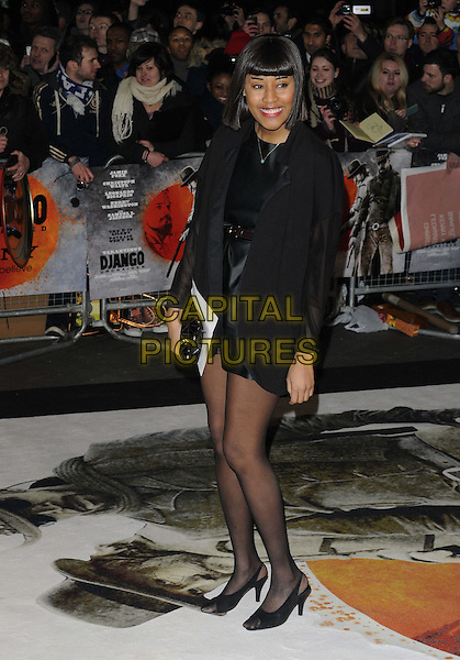 VV Brown (Vanessa Brown).The UK Premiere of 'Django Unchained', Empire Leicester Square, London, England..January 10th 2013.full length dress blazer black   .CAP/CAN.©Can Nguyen/Capital Pictures.